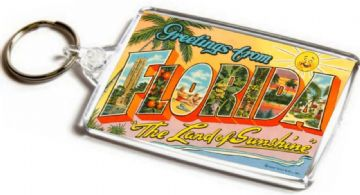 Greetings From Florida Jumbo Keyring